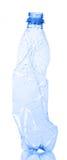 Pusty plastikowy bidon dla przetwarzać odizolowywam na bielu zdjęcie royalty free