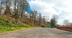 Pusty Plenerowy parking samochodowy Zdjęcia Royalty Free