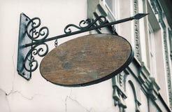 Pusty plenerowy signage dodawać loga Zdjęcie Royalty Free