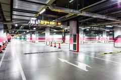 Pusty podziemny parking Obraz Stock