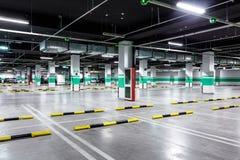 Pusty podziemny parking Obrazy Royalty Free