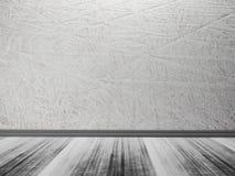 Pusty pokój, drewniana podłoga, grunge stiuk, tła ilustracji