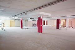 Pusty pokój pod remontowymi pracami Zdjęcie Stock