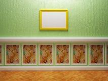 Pusty pokój w ciekawym projekcie Fotografia Stock