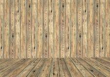 Pusty pokój z drewnianą ścianą i podłoga Zdjęcie Royalty Free
