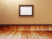 Pusty pokój z drewnianą podłoga i obrazkiem royalty ilustracja