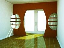 Pusty pokój z dużym okno ilustracji