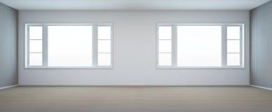 Pusty pokój z okno w nowożytnym domu Zdjęcia Stock