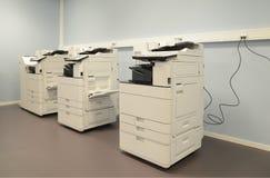 Pusty pokój z photocopier maszynami Fotografia Royalty Free