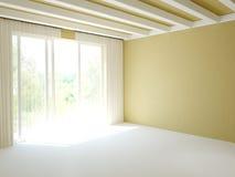 Pokój z balkonowym drzwi Fotografia Royalty Free