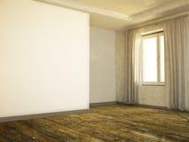 Pusty pokój z starą podłoga ilustracja wektor