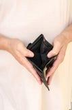 pusty portfel zdjęcia stock