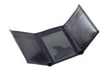 pusty portfel. obraz stock