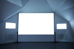 pusty projekcyjny ekran obrazy stock