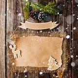 Pusty prześcieradło dla nowy rok powitań Fotografia Stock