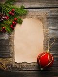 Pusty prześcieradło dla nowy rok powitań Zdjęcie Stock