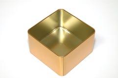 pusty pudełko metal Zdjęcie Royalty Free