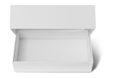 pusty pudełkowaty karton Obraz Royalty Free