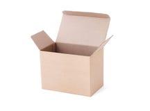 pusty pudełkowaty karton Obrazy Royalty Free