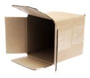 pusty pudełkowaty karton Obraz Stock