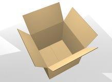 pusty pudełkowaty karton otwiera Obrazy Royalty Free
