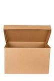 pusty pudełkowaty karton otwiera zdjęcie stock