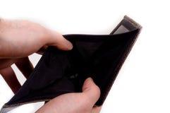 pusty ręk chwyta portfel obrazy royalty free