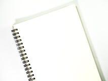 Pusty realistyczny ślimakowaty notepad notatnik na białym tle Fotografia Stock