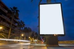 Pusty reklama egzamin próbny up zdjęcia stock