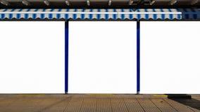 Pusty reklama sztandaru reklamy szablonu egzamin próbny W górę Odosobnionej ścinek ścieżki Bezpłatnej przestrzeni obrazy stock
