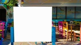 Pusty reklama sztandaru reklamy szablonu egzamin próbny W górę Odosobnionej ścinek ścieżki Bezpłatnej przestrzeni obraz stock