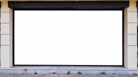 Pusty reklama sztandaru reklamy szablonu egzamin próbny W górę Odosobnionej ścinek ścieżki Bezpłatnej przestrzeni zdjęcie stock