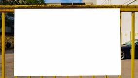 Pusty reklama sztandaru reklamy szablonu egzamin próbny W górę Odosobnionej ścinek ścieżki Bezpłatnej przestrzeni fotografia stock