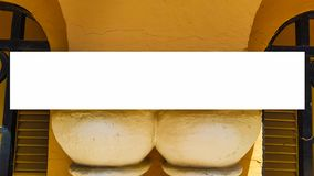 Pusty reklama sztandaru reklamy szablonu egzamin próbny W górę Odosobnionej ścinek ścieżki Bezpłatnej przestrzeni obrazy royalty free