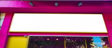 Pusty reklama sztandaru reklamy szablonu egzamin próbny W górę Odosobnionej ścinek ścieżki Bezpłatnej przestrzeni zdjęcia stock