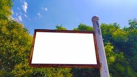 Pusty reklama sztandaru reklamy szablonu egzamin próbny W górę Odosobnionej ścinek ścieżki Bezpłatnej przestrzeni fotografia royalty free