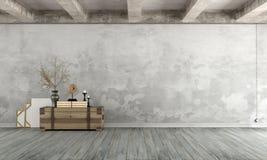 Pusty retro żywy pokój Obraz Royalty Free