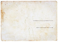 Pusty rocznik pocztówki plecy Obraz Royalty Free
