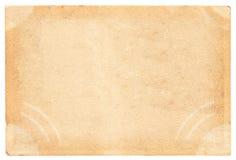 Pusty rocznik pocztówki plecy Zdjęcie Stock