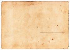 Pusty rocznik pocztówki plecy Obrazy Royalty Free