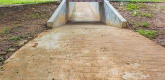 pusty rowerowy pas ruchu robi z betonem Fotografia Royalty Free