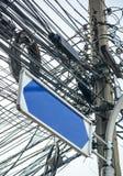 Pusty ruchu drogowego znak Fotografia Stock