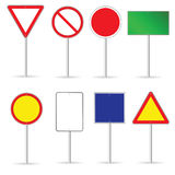 Pusty ruchu drogowego znak ustawia dwa wektorów ilustrację Obrazy Stock