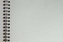 Pusty rysunkowy akwarela notatnik Obraz Stock