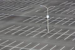 Pusty samochodowy parking zdjęcie stock