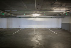 pusty samochodu parking Obraz Stock