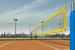 Pusty siatkówki areny 3d rendering Fotografia Stock