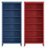 Pusty stary drewniany bookcase Fotografia Stock