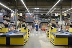 Pusty supermarketa sklep w dniu obraz stock