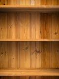 pusty szelfowy drewno obrazy stock